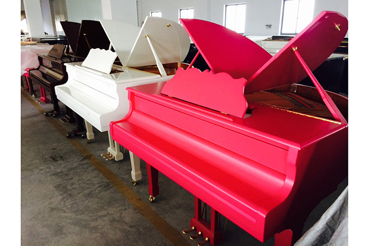 Brand New Pink Butterly Baby Grand Piano