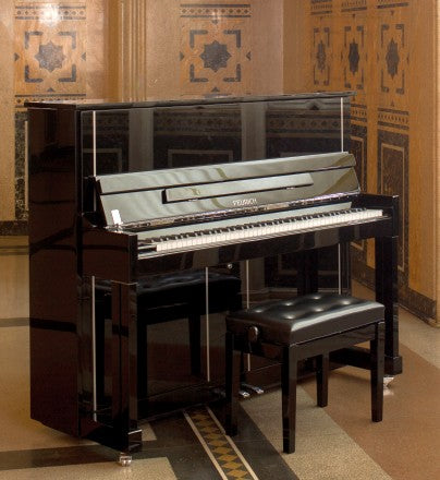 FEURICH 125 BLACK UPRIGHT PIANO – DESIGN