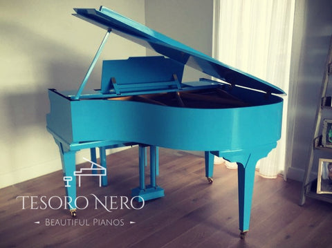 Brand New Blue SG148 Steinhoven Baby Grand Piano - Colour Change Service