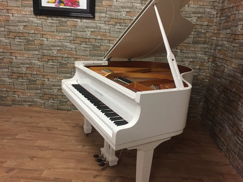 Brand New - Steinhoven SG148 - High Gloss White Baby Grand Piano