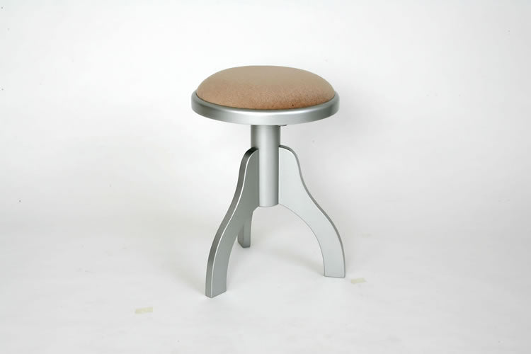 Tesoro Nero Solo Round Adjustable Stool