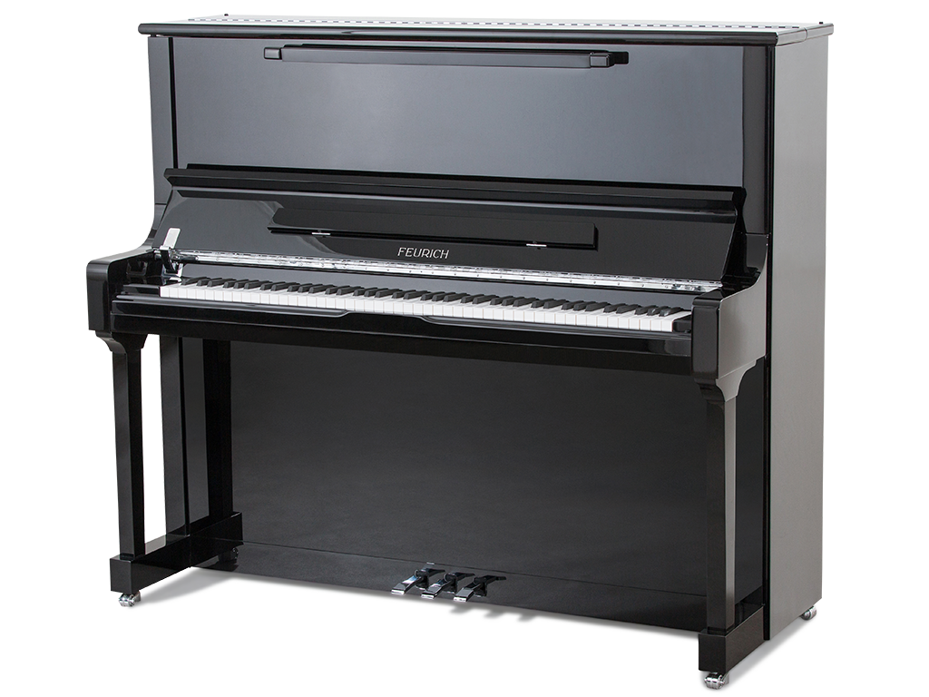 FEURICH 133 BLACK UPRIGHT PIANO  – CONCERT!