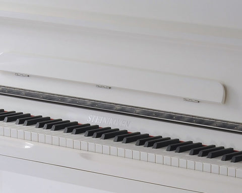 Brand New Steinhoven SU 121 High Gloss White Upright Piano