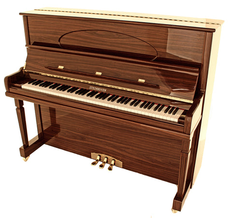 Brand New Steinhoven SU 128 High Gloss Walnut Upright Piano