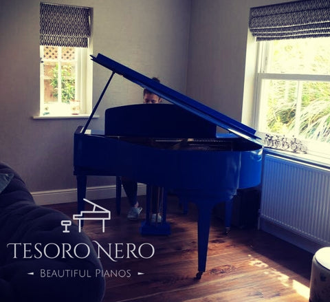 Brand New Dark Blue SG148 Steinhoven Baby Grand Piano - Colour Change Service