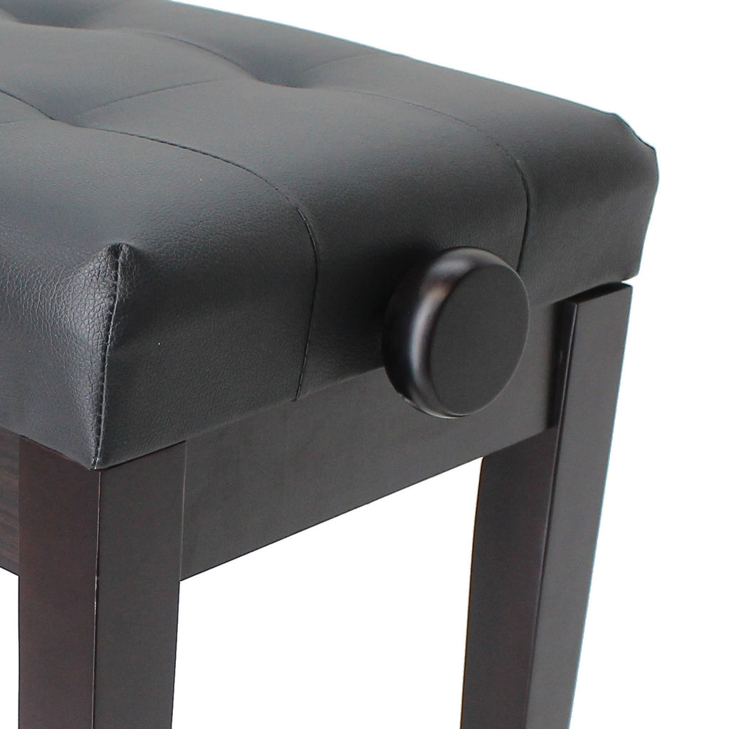 SONATA Adjustable Piano Stool with Wooden Handles, Satin Rosewood