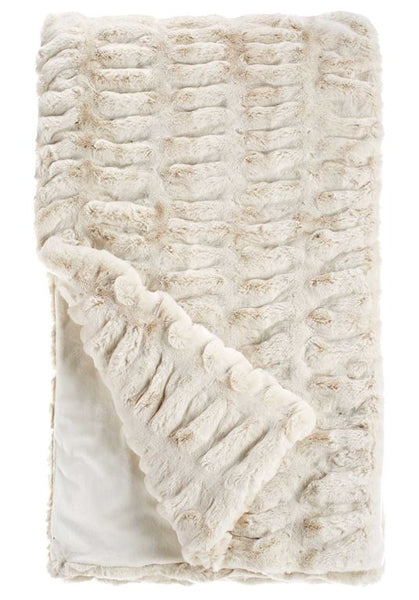 Ivory Mink Couture Collection Faux Fur Throw