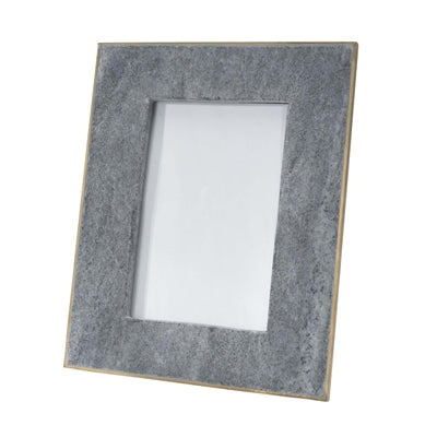 Black marble 8 x 10 picture frame  with brass