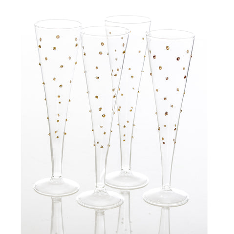Gatsby Flutes with Gold Dots