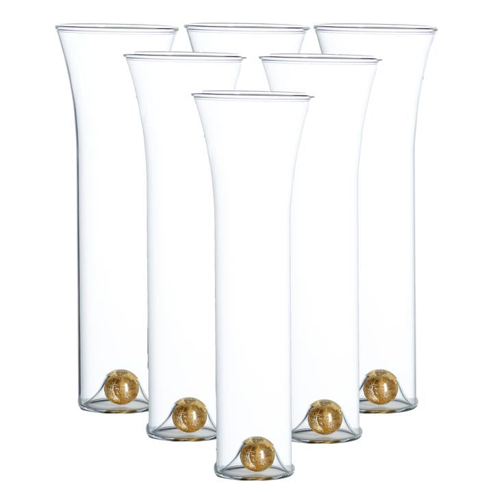 Golden Globe Flutes, Set of 6