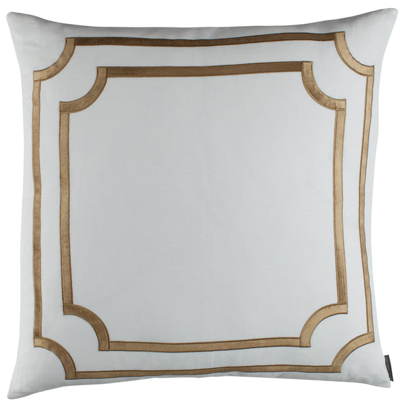SoHo European Pillow with Straw Velvet Trim - Villa Decor Design & Style - 1
