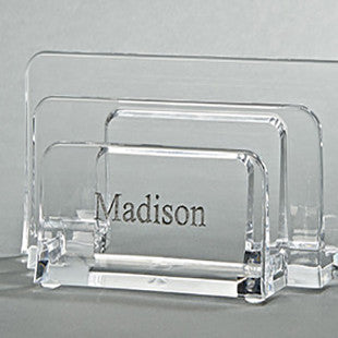 Personalized Lucite Desk File Sorter - Villa Decor Design & Style - 1