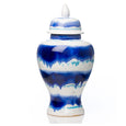 Watercolor Lidded Ceramic Urn - Villa Decor Design & Style - 1