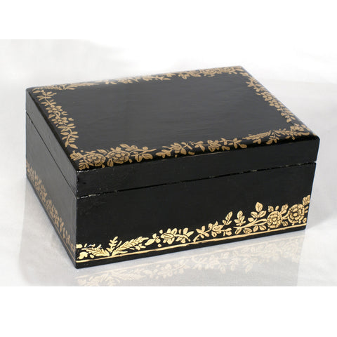 Black Lacquer Storage Box - Villa Decor Design & Style