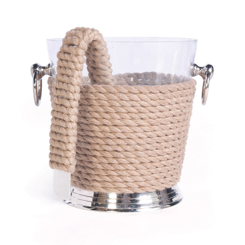 Coastal Ice Bucket and Tongs - Villa Decor Design & Style