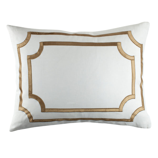 SoHo Standard Pillow with Straw Velvet Trim - Villa Decor Design & Style - 1