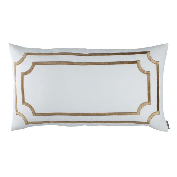 SoHo King Pillow with Straw Velvet Trim - Villa Decor Design & Style - 1