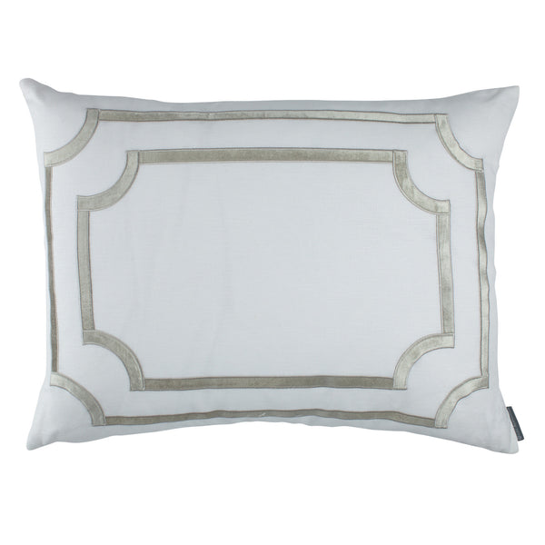 SoHo Standard Pillow with Ice Silver Velvet Trim - Villa Decor Design & Style - 1