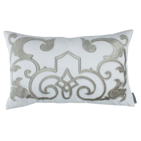 Straw Chloe Decorative Pillow with Velvet Applique