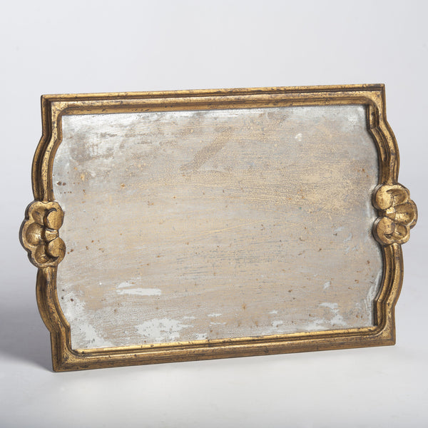 Gold Vendome Tray with Antiqued Mirror - Villa Decor Design & Style