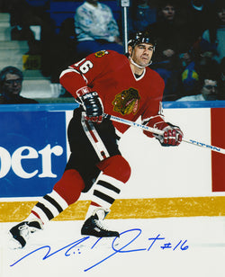 "Michel Goulet - Chicago Black Hawks - 8"" X 10"" NHL Hockey Pictures & Autographs - NHL Autograph"