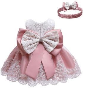Princess Baby Girl Dress Birthday Party Baptism Dress