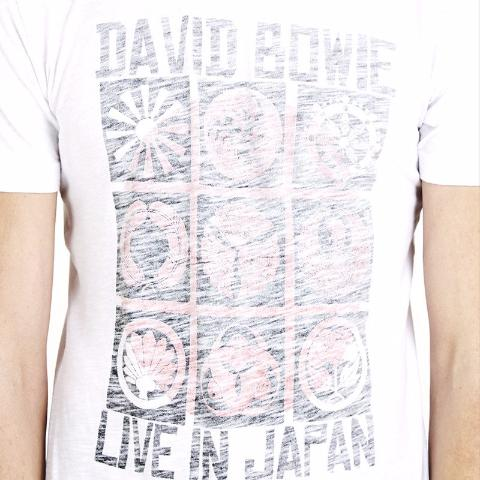 David Bowie 'Live In Japan' T-Shirt - White