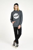 NASA Front Logo Hoody with Front Pocket - Grey