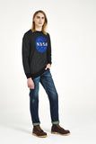 NASA Front Print Sweatshirt - Black