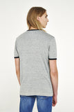 NASA Front Print Ringer T-Shirt - Grey