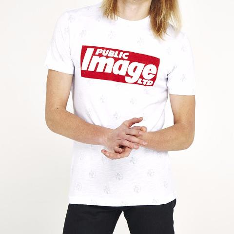 Public Image Ltd 'Newspaper' Logo T-Shirt - White