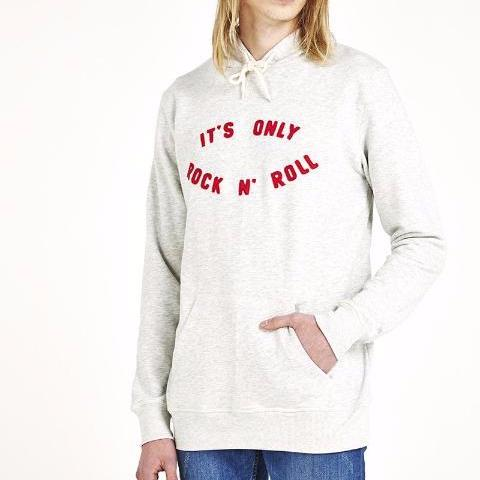 It's Only Rock and Roll Hoody - Grey