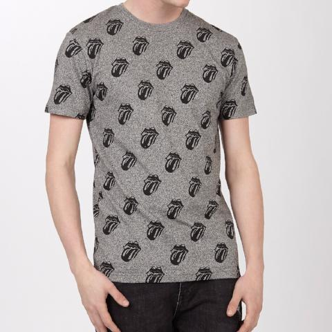 The Rolling Stones Licks AOP T-Shirt - Grey