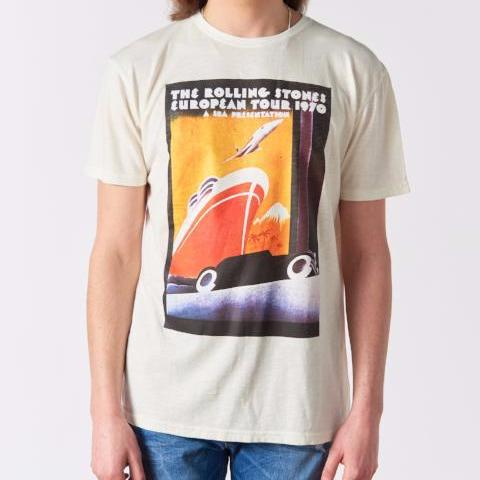 Rolling Stones 1970 Tour Poster T-Shirt