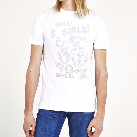 'Girls, Girls, Girls' T-Shirt - White