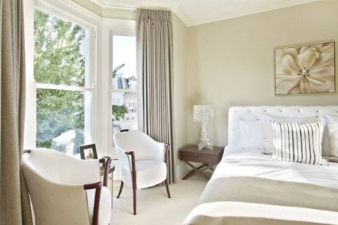 Client Residence: Beautiful light bright bedroom