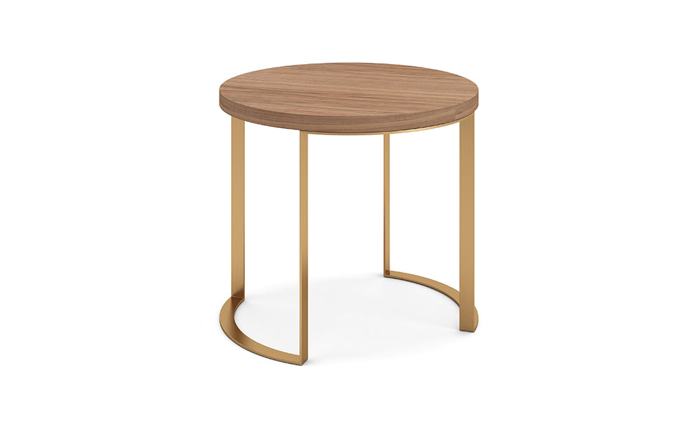 Lunato Side Table - Walnut