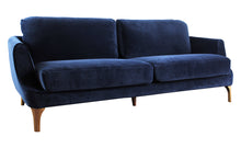 Gustav 3-Seater Sofa - Dark Blue