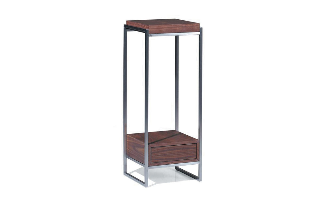 Distinction Furniture Scatola Pedestal Dark Walnut