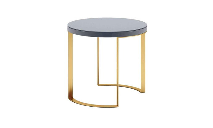Distinctify Lunato Side Table - Grey Lacquer
