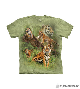Wild Tiger Collage Youth Tee