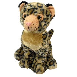 "12"" Sitting Leopard Plush"