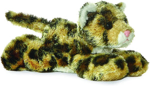 8 inch Laying Leopard Plush