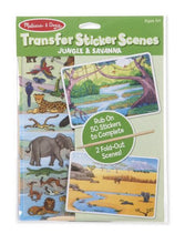 Load image into Gallery viewer, Jungle & Savannah Transfer Sticker Scene Activity