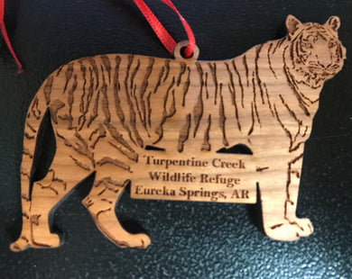 Wooden Laser-cut Tiger Ornament
