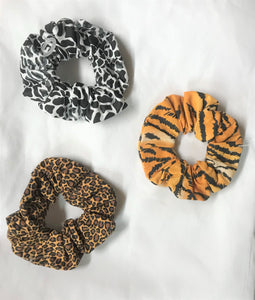 Handmade Animal Print Scrunchies
