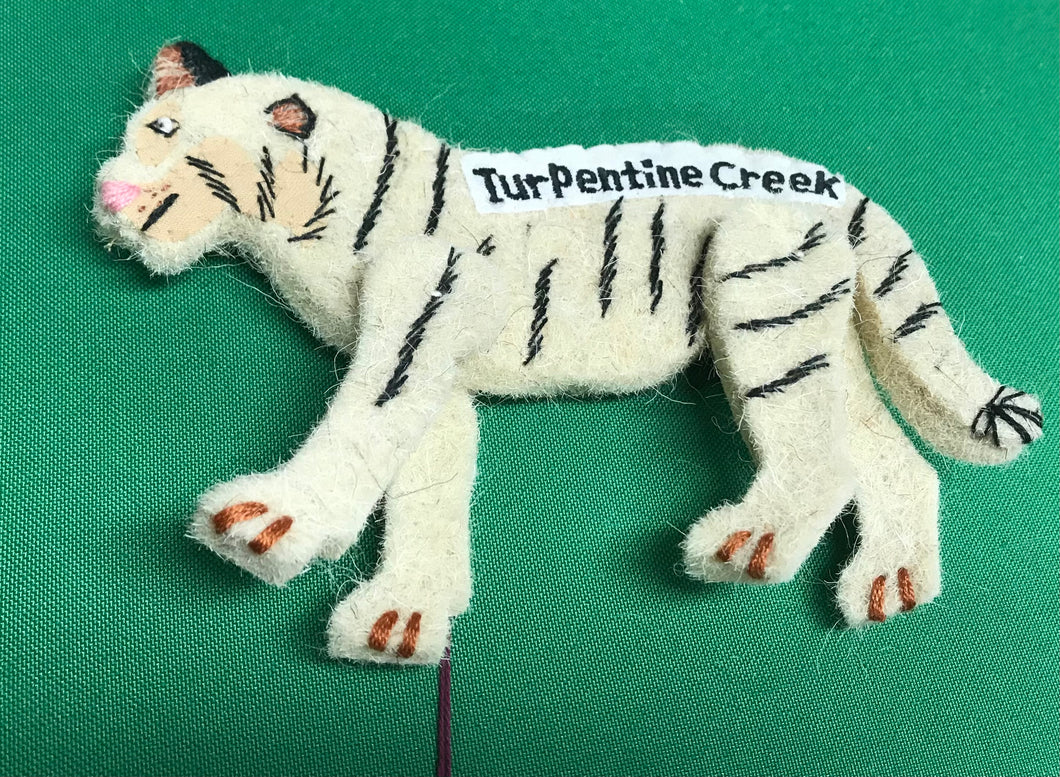 Recycled Wool Tiger Hanging Decoration