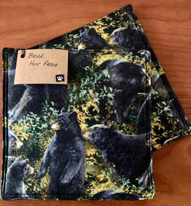 Handmade Animal Print Hot Pads