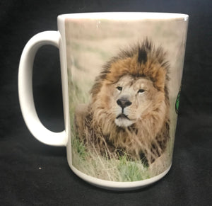 Ceramic Tsavo the lion Mug