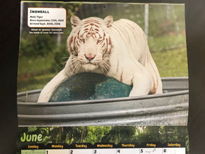 2020 Turpentine Creek Calendar